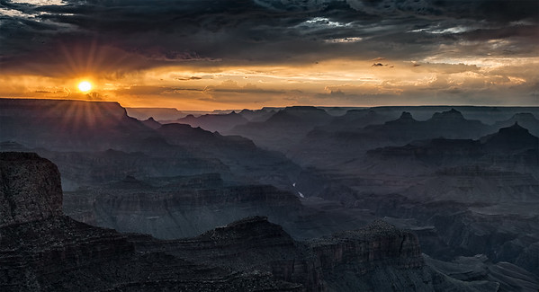 Moran Point Sunset, Grand Canyon, Arizona