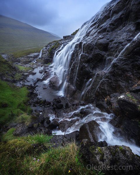 Faroese waterfall