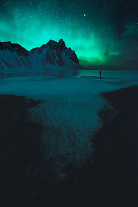 Enjoying the Northern Lights in Iceland