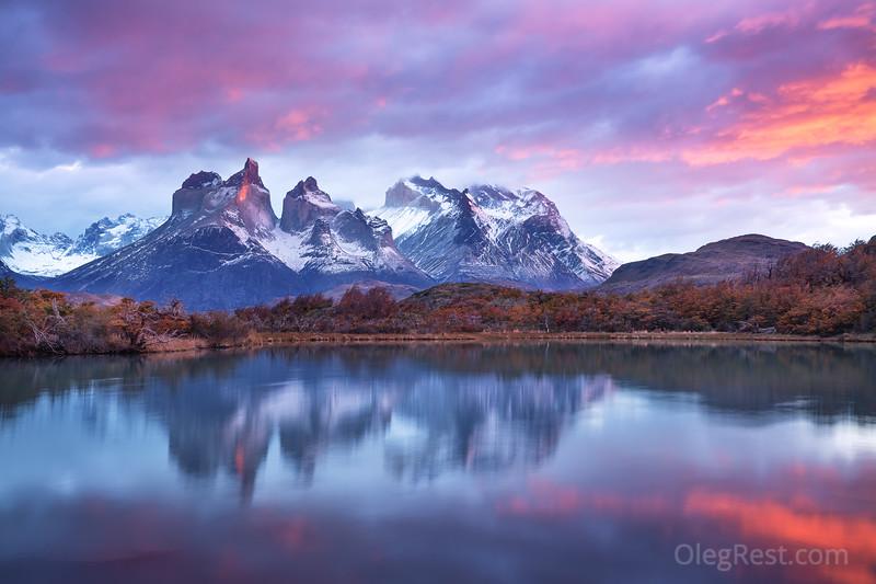 Sunrise in the Torres del Paine