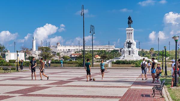 Football Game in Havana