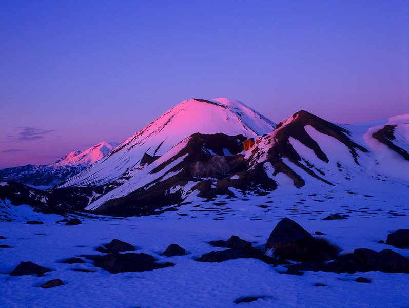 Winter Sunrise Tongariro Crossing