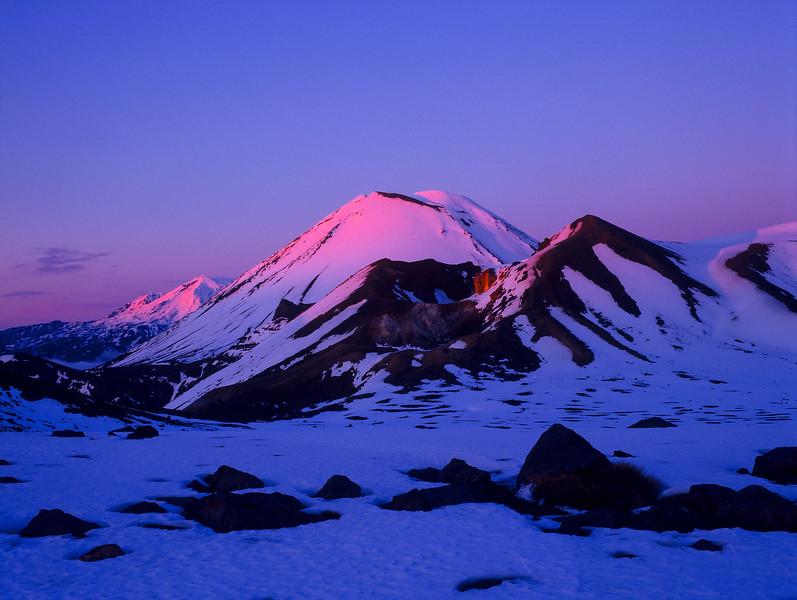 Winter Sunrise Tongariro Crossing
