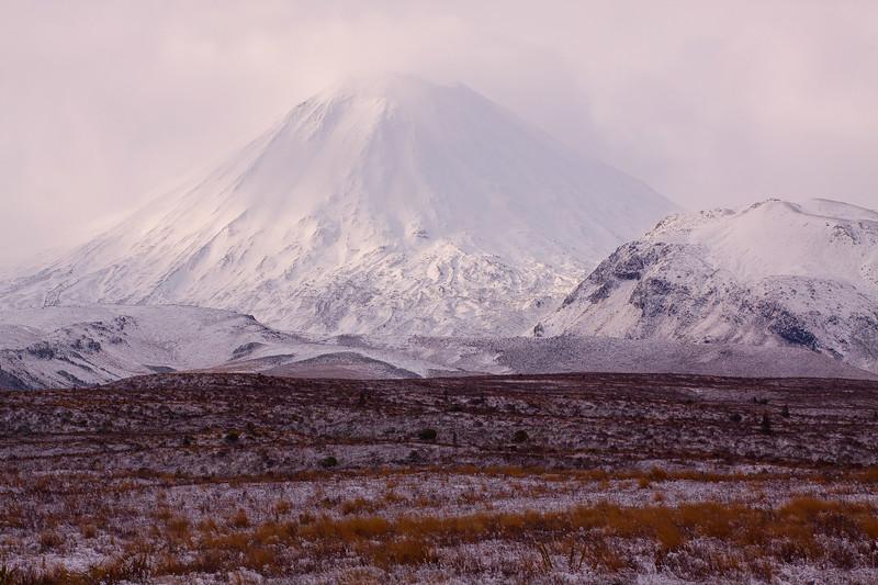 Clearing Snow Storm Mount Ngauruhoe