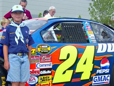 Ro with Jeff Gordon's car