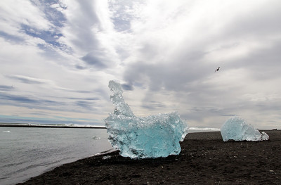 Icebergs at Diamond Beach