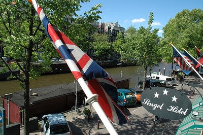View of the Singel Canal from our hotel room