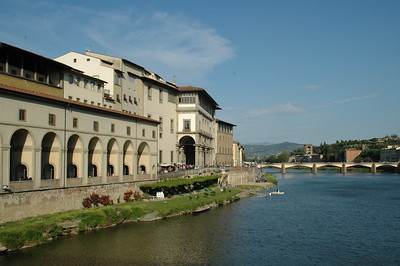 Florence sits on the Arno River