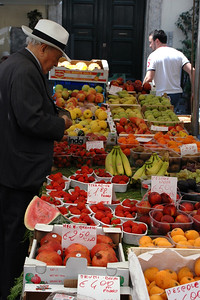 Outdoor market at Campo Fiori Square