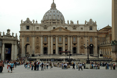 St. Peter's Square.  This was taken just after the new Pope was named.  You can still see the chairs at the front of the Cathedral from the ceremonie's they had.