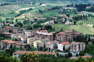 A view of the town of San Gimignano