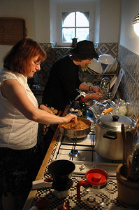 Pat & I cooking up a storm