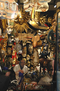 Find the shopkeeper amongst the masks