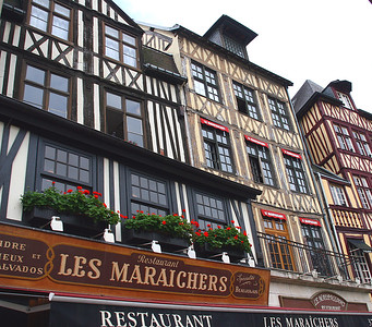 Typical Normandy architecture - very different from Paris