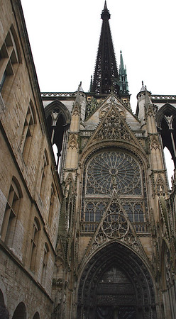 Rouen is famous for its gothic Cathedral