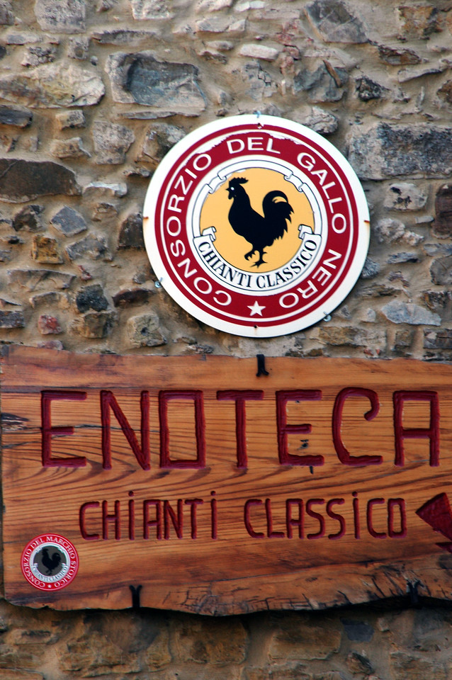 The black rooster is a symbol of wine in the Chianti region