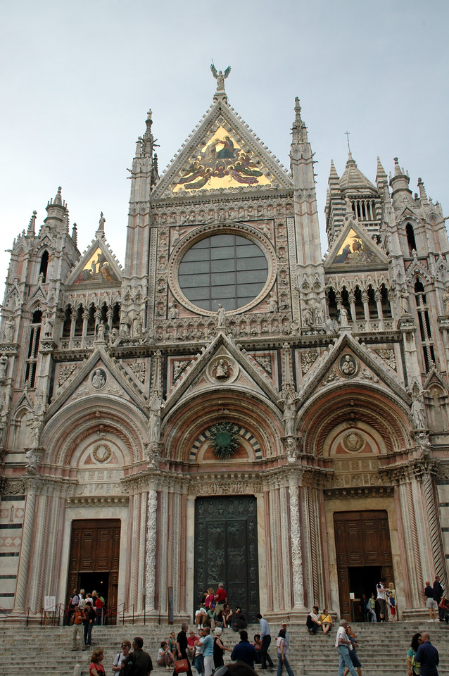 The duomo in the town of Siena