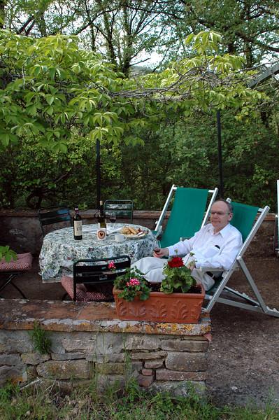 Bernd relaxing in our garden