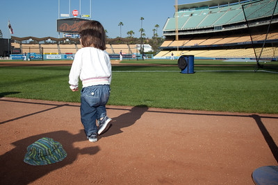 On Field at the Dodger Batting Practice - 2010
