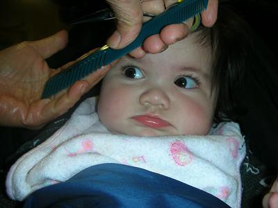 Gabrielle's first haircut