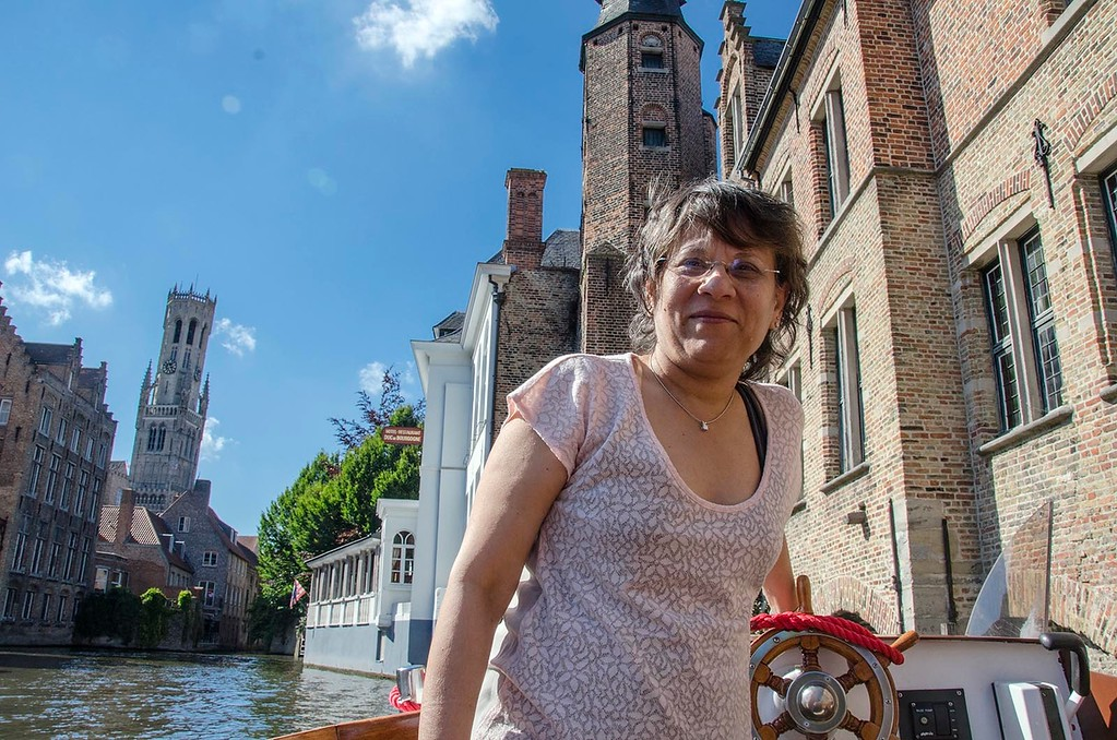 On a canal cruise