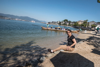Relaxing on the water front