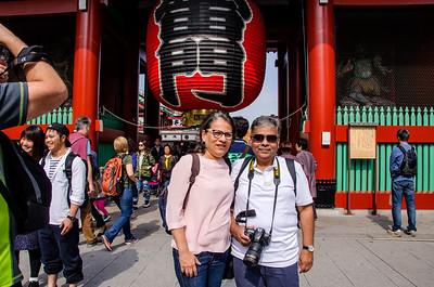 In front of the Sensoji Temple