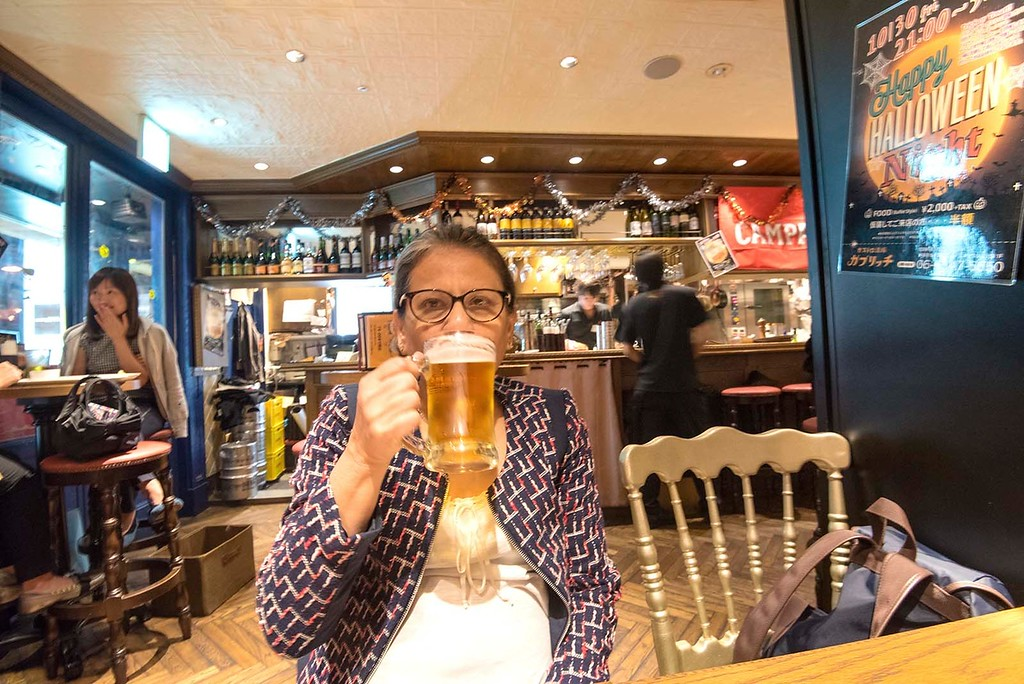 Enjoying Beer