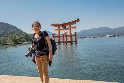 In front of the Great Torii