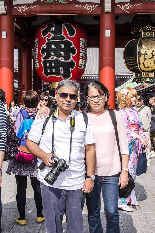 At the Sensoji Temple