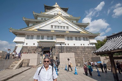 In front of the Osaka Castle