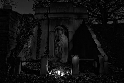 """ghost"" at Laurel Hill Cemetery, Philadelphia, PA"