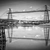 Newport Transporter Bridge Docks-view 3 B&W