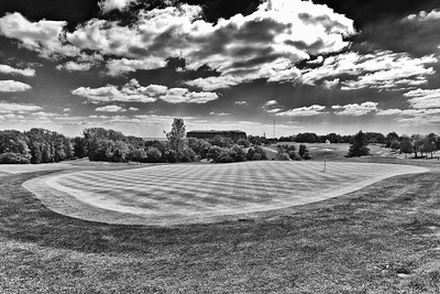 The Celtic Manor Resort, Golf Course in Black and White.