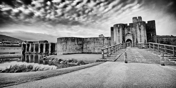 Caerphilly Castle in South Wales 03