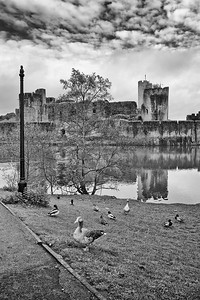 Caerphilly Castle in South Wales 14