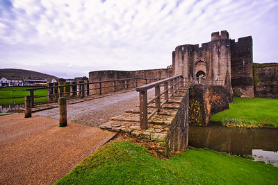 Caerphilly Castle in South Wales 09