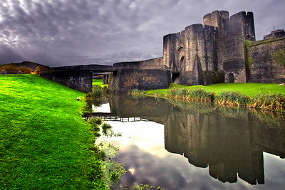 Caerphilly Castle in South Wales 10