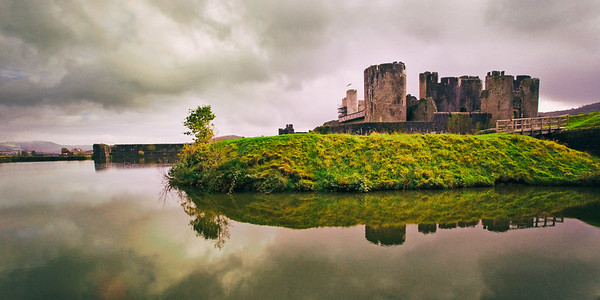 Caerphilly Castle in South Wales 06