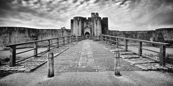 Caerphilly Castle in South Wales 02