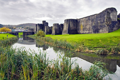 Caerphilly Castle in South Wales 08