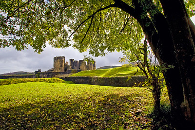 Caerphilly Castle in South Wales 05