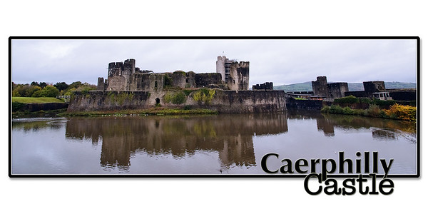 Caerphilly Castle in South Wales 01