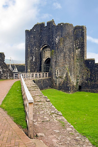 Caerphilly Castle in South Wales 07