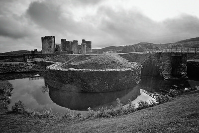 Caerphilly Castle in South Wales 23