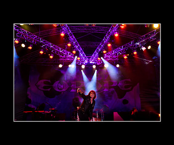 Joey Tempest, vocalist with Europe: headlining band at the 2014 Steelhouse Festival, Ebbw vale in South Wales.