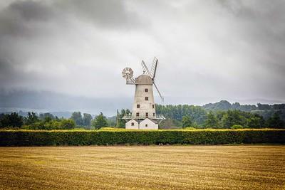 Llancayo Windmill near Usk, South Wales.