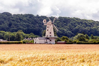 Llancayo Windmill near Usk, South Wales.