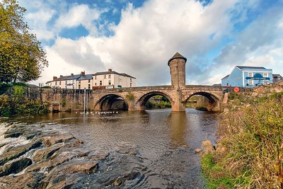 Monnow Bridge, Monnow Street, Monmouth, South Wales 01