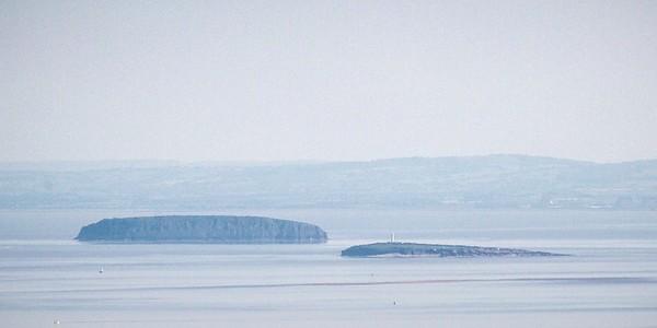 Mynydd Machen views -17 Steep Holm and Flat Holm off Cardiff Bay